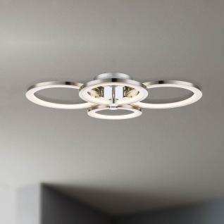 licht trend equal led deckenleuchte 4 flg nickel matt chrom deckenlampe kaufen bei. Black Bedroom Furniture Sets. Home Design Ideas