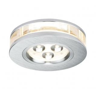 Paulmann Premium EBL Set Liro rund LED 3x3W 350mA 9VA 90mm Alu geb. /Klar /