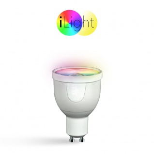 iLight GU10 LED Spot 5 Watt / RGBW Farbwechsel / Wifi Steuerung iPhone/iPad / LED-Lampe