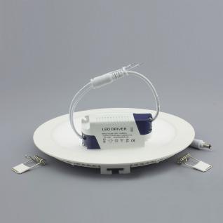 Licht-Design 30439 Einbau LED-Panel 1440 Lumen / Ø 22 cm / Warm / Silber - Vorschau 3