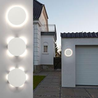 Nordlux Uno Disc / LED Aussen-Wandleuchte / 673 Lumen / Weiss / Wandlampe Aussen