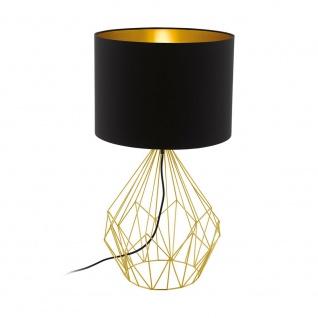 Eglo 95186 Pedregal 1 Tischlampe / Messing, Schwarz, Gold