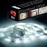 LED-Lichtband 100 cm / 30 LEDs / inkl. Netzteil / 4000K neutralweiss / Dekorationslampe