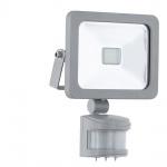 Eglo 95407 LED Sensor Aussenstrahler Faedo 1 / 10W / 900 Lumen / Silber