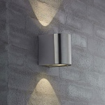 Nordlux Canto LED Aussen-Wandleuchte / 700 Lumen / Edelstahl Wandlampe Aussen
