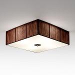 s.LUCE Twine Stoff-Deckenlampe 45x45 cm / Textillampe Stoffleuchte Braun