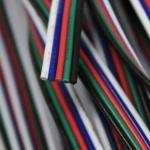 Verbindungskabel Schwarz / 5 x 0, 82mm / 1 Meter / Zubehör / LED Strips Kabel / Trafo-Kabel
