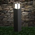 s.LUCE Cube LED Standleuchte 80cm Poller 10W / LED Stehleuchte Lampe Schwarz