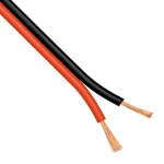 Verbindungskabel Schwarz & Rot / 2 x 1, 5mm / 1 Meter / Zubehör / LED Strips Kabel / Trafo-Kabel