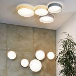 Licht-Trend Palo / LED-Decken- oder Wandleuchte / Ø 32 cm / mit Textilschirm / Creme / Deckenlampe