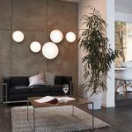 Licht-Trend Palo / LED-Deckenleuchte / Textilschirm / Ø 50 cm / Creme / Deckenlampe