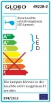 Alexia Wandleuchte LED / rechteckig, 4 Stufen-Funktion 100-60-30-10% / 2 x 350 Lumen