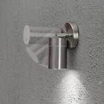 Konstsmide 7598-000 Modena Energiespar Wandspot schwenkbar / Edelstahl, klares Glas