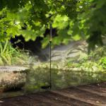 Schilf Solarlampe Deko LED Solarleuchte 105 cm / Schwarz / Gartenleuchte