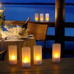 Candle 4er-Set LED Kerzen / Weihnachtskerzen Dekolampen LED Dekokerze Teelicht