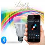 s.LUCE iLight E27 LED-Leuchtmittel 8W / RGBW Bluetooth iPhone, iPad / LED-Lampe