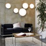 Licht-Trend Palo / LED-Decken- oder Wandleuchte / Ø 40 cm / mit Textilschirm / Creme / Deckenlampe