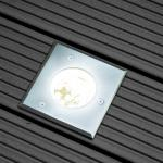 s.LUCE Level / Edelstahl Bodeneinbaustrahler eckig / IP65 / Einbaulampe Aussen