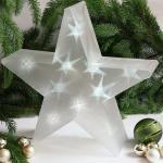 LED Weihnachtsstern Ø 33 cm / 3D-Hologramm-Licht-Effekt mit Fernbedienung