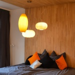 s.LUCE Blob Up / Opalglas Hängeleuchte Ø 26 cm / Pendellampe Hängelampe Orange
