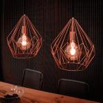 Licht-Trend Bosco / Metall-Pendelleuchte im Vintage-Look / Pendellampe Kupfer