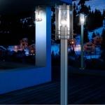 Miami / Außen-Stehleuchte / 1-flammig / 110 cm / Edelstahl / Pollerlampe / Sockellampe
