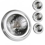 s.LUCE 4er-Set / QRB111 G53 Halogen-Reflektorlampe / 50W / 12V