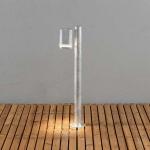 Konstsmide 7517-320 Modena Wegeleuchte mit Pfahl / galvanisierter Stahl, klares Acrylglas, Reflektor