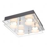 Alexia Deckenleuchte LED / quadratisch, 4 Stufen-Funktion 100-60-30-10% / 4 x 350 Lumen