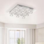 LeuchtenDirekt 50385-17 Oki LED Deckenleuchte / 9 x G4 14W + 9 x LED 0, 36W / RGBK / Silberfarben