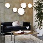 Licht-Trend Palo / LED-Deckenleuchte / Textilschirm / Ø 50 cm / Grau / Deckenlampe