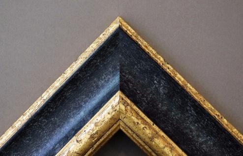 bilderrahmen acta in schwarz gold mit passepartout in schwarz 6 7 top qualit t kaufen bei. Black Bedroom Furniture Sets. Home Design Ideas