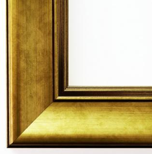 Bilderrahmen Rahmen Holz Klassisch Flensburg in Gold 5, 5 - Top Qualität