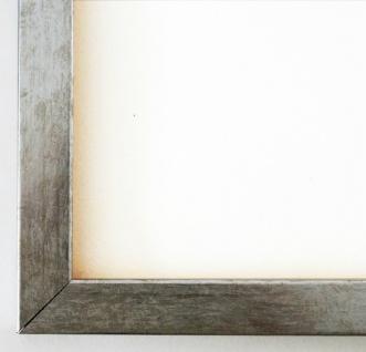 Bilderrahmen Rahmen Holz Modern Art Paderborn in Silber Metall 2, 1 Top Qualität