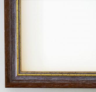 Bilderrahmen Rahmen Holz Klassisch Braunschweig in Braun Gold 2, 5 - Top Qualität