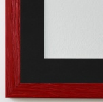 Bilderrahmen Siena in Rot mit Passepartout in Schwarz 2, 0 Top Qualität
