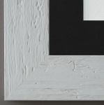 Bilderrahmen Capri in Weiss mit Passepartout in Schwarz 5, 8 Top Qualität