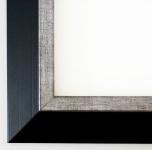 Bilderrahmen Rahmen Holz Modern Lüneburg in Schwarz Silber 4, 6 - Top Qualität