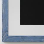 Bilderrahmen Siena in hell Blau mit Passepartout in Weiss 2, 0 Top Qualität