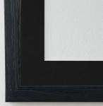Bilderrahmen Siena in Schwarz mit Passepartout in Schwarz 2, 0 Top Qualität