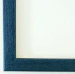 Bilderrahmen Rahmen Holz Modern Art Deco Hannover in Blau 2, 4 - Top Qualität