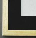 Bilderrahmen Neapel in Beige mit Passepartout in Schwarz 2, 0 Top Qualität