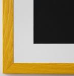 Bilderrahmen Siena in Gelb mit Passepartout in Weiss 2, 0 Top Qualität