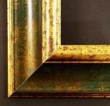 Bilderrahmen Fotorahmen Urkunden Rahmen Antik Barock Vintage Acta Grün Gold 6, 6