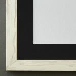 Bilderrahmen Siena in Beige mit Passepartout in Schwarz 2, 0 Top Qualität