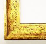 Holz Bilderrahmen Rahmen für Foto Bild Druck Mantilla in Gold 4, 5 Restposten**