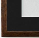 Bilderrahmen Neapel Braun gemasert mit Passepartout in Schwarz 2, 0 Top Qualität
