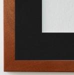 Bilderrahmen Neapel in Ocker Braun mit Passepartout in Schwarz 2, 0 Top Qualität