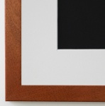Bilderrahmen Neapel in Ocker Braun mit Passepartout in Weiss 2, 0 Top Qualität
