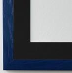 Bilderrahmen Siena in dunkel Blau mit Passepartout in Schwarz 2, 0 Top Qualität